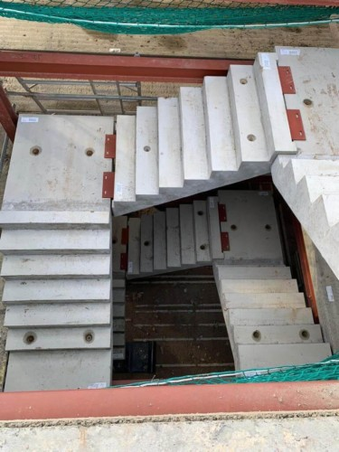 Precast Stairs, Design, Manufactured and Installed